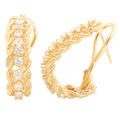 Vintage Estate  Ladies 14K Yellow Gold Diamond 1.00CT French Back Earrings