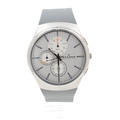 Skagen Men's Ultra Slim Grey & Orange Rubber Chronograph Quartz Watch SKW6132