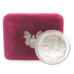 1990 American Eagle 999.0 1 oz Uncirculated Fine Silver Dollar Coin