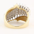 Ladies Classic Estate 10K Yellow Gold Diamond Cluster Cathedral Ring - 0.85CTW
