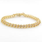 Classic Ladies 14K Yellow Gold Diamond 4.00CTW Tennis Bracelet Jewelry