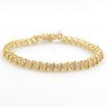 Classic Ladies 14K Yellow Gold Diamond 4.00CTW Tennis Bracelet Jewelry
