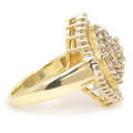 Gorgeous Classic Estate 10K Yellow Gold Diamond Ladies Coctail Ring - 1.15CTW