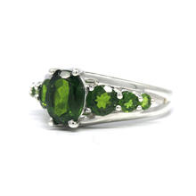 Estate Ladies 925 Silver Green Quartz 1.65CTW Cocktail Ring Size 7
