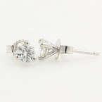 NEW Classic 14K White Gold Diamond 0.50CTW Stud Push Back Earrings