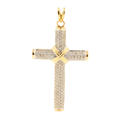 Classic Estate 14K Yellow Gold Cross Diamond 2.10CTW Pendant