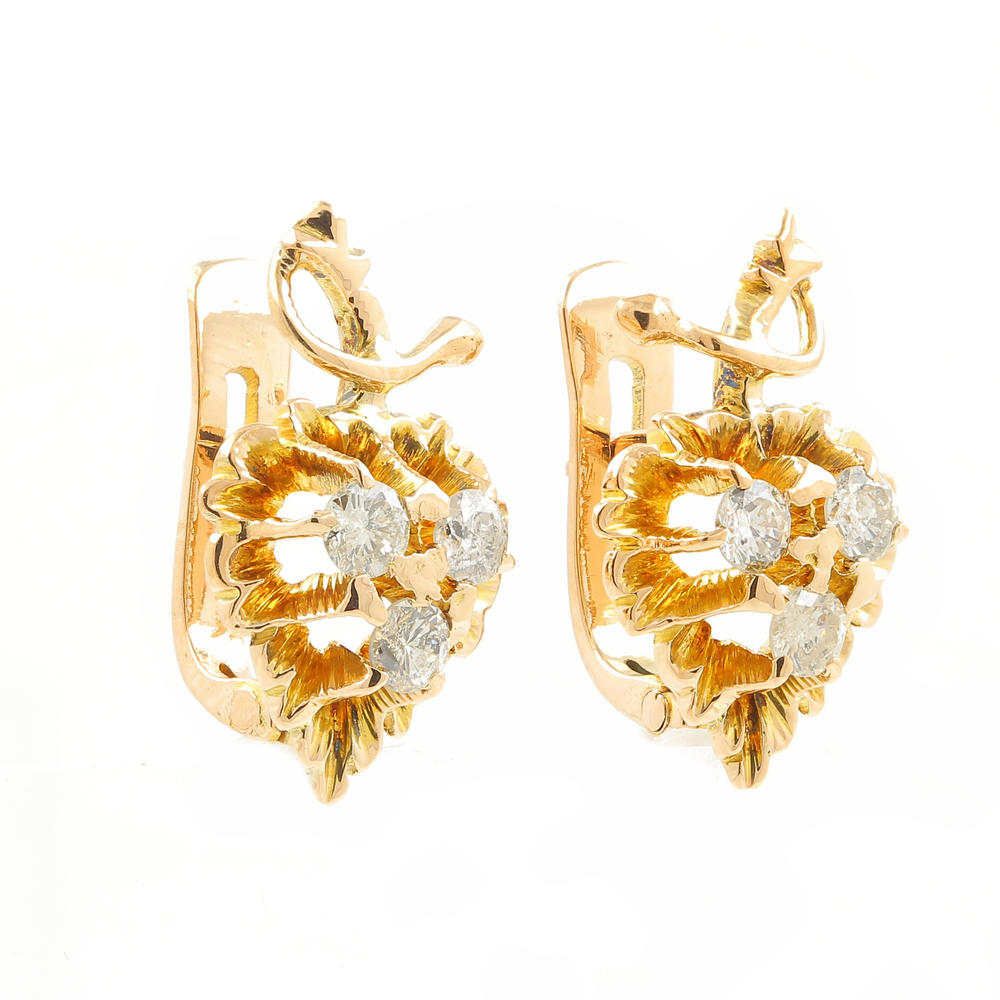 French Back Earrings  042ctw Item #: Yl160202916
