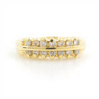 Classic Estate 14K Yellow Gold Diamond 0.30CTW Right Hand Anniversary Ring Band