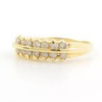 Vintage Classic Estate 14K Yellow Gold Diamond Anniversary Ring Band - 0.30CTW