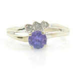 Vintage Classic Estate 14K White Gold Ladies Lolite Diamond Ring - 0.50CTW