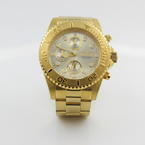 Invicta Men's 1774 Pro-Diver Collection 18k Gold Plated Stainless Steel Watch