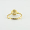 Marco Bicego Citrine 18K Yellow Gold Engraved Jaipur Stackable Ring