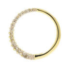 Vintage Ladies 10K Yellow Gold Diamond Journey Circle of Love Pendant