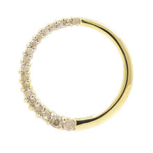 Vintage Ladies 10K Yellow Gold Diamond Journey Circle of Love Pendant