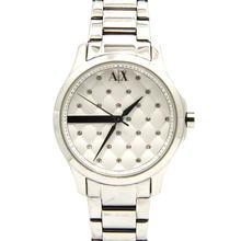 Armani Exchange Women's AX5208 White Dial Silver Stainless-Steel Quartz Watch