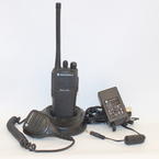 Motorola Radius CP200 Two Way Radio + Microphone Speaker UHF 4 Ch AAH50RDC9AA1AN