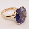 Marvelous Color Changing Sapphire 10K Yellow Gold Cocktail Ring