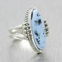 Estate Ladies Silver 925 Turquoise Size 5.5 Right Hand Cocktail Ring