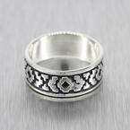 Vintage Estate 925 Silver Native American Size 8.5  Ring Band