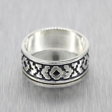 Estate 925 Silver Native American Men's/Women's/Unisex Ring Band - Size 8.5