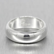 Classic Estate Men's 925 High Polished Silver Ring Band Size 9.75
