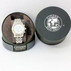 Citizen Eco-Drive Chronograph Stainless Steel MOP Dial Ladies Watch FB1360-54D
