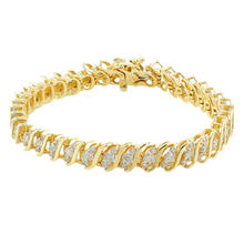 Classic Ladies 10K Yellow Gold Natural Diamond 4.18CTW Tennis Bracelet