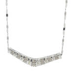 "Retro Vintage Estate 14K White Gold Diamond 1.00CTW 18"" Flat Chain Necklace"