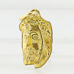 Yellow 18K Fine Gold Jesus Micro Piece Charm Custom Made Religious Pendant