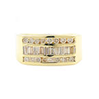 Vintage Classic  Estate 14K Yellow Gold Men's Diamond Ring - Size 9.75 - 0.83CTW