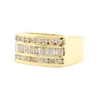 Vintage Classic  Estate 14K Yellow Gold Men's Diamond Ring - Size 9.75 - 0.83CTW