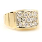 Vintage Classic Estate 14K Yellow Gold Men's Diamond Ring - Size 11 - 0.99CTW