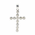 Classic Estate  14K White Gold Diamond 0.77CTW 45MM Cross Pendant