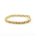 Vintage Estate 14K Yellow Gold Red Spinel Diamond Tennis Bracelet -  7 Inch