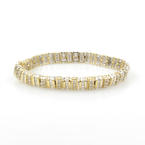 Classic Estate Ladies 14K Yellow White Gold Diamond Tennis Bracelet - 3.00CTW