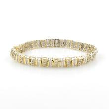 "Classic Ladies 14K Yellow White Gold Diamond 3.00CTW 7 1/2"" Tennis Bracelet"