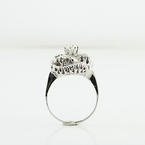 Brillient Art Deco design 14K White Gold Ladies 0.75CTW Diamond Engagment Ring