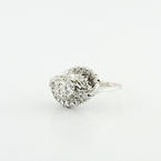 Brillient Art Deco design 14K White Gold Ladies 0.75CTW Diamond Engagment Ring