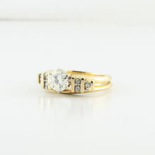 Brilliant Engament Ladies Wedding 14K Diamond Bridel Set Ring 0.75 Carats Center