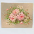 Signed Christie Repasy La Belle Roses Canvas Giclee Pink White