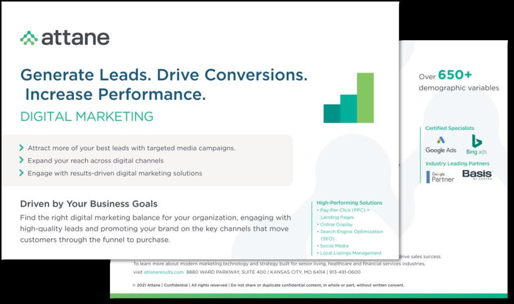 Digital Marketing Solution Sheet
