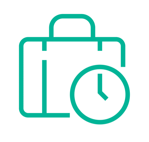 icon of a suitcase and clock