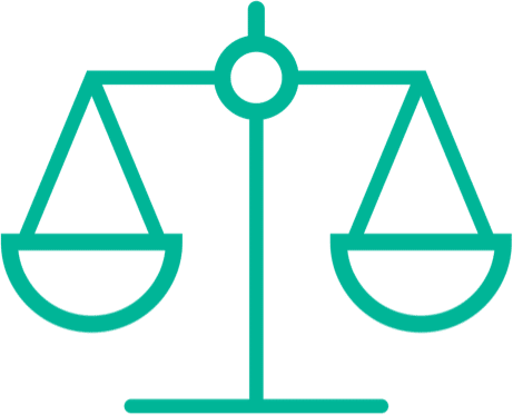illustration of the justice scales