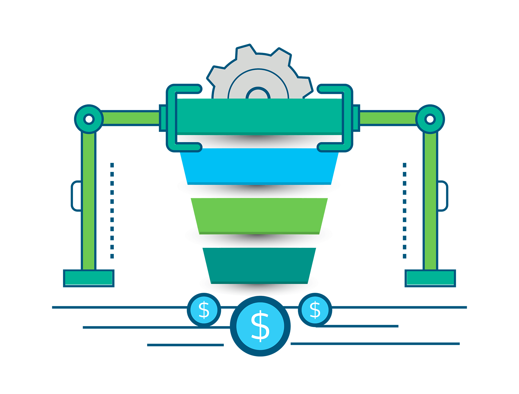 An illustration showing how Marketing Automation can lead to revenue for your business