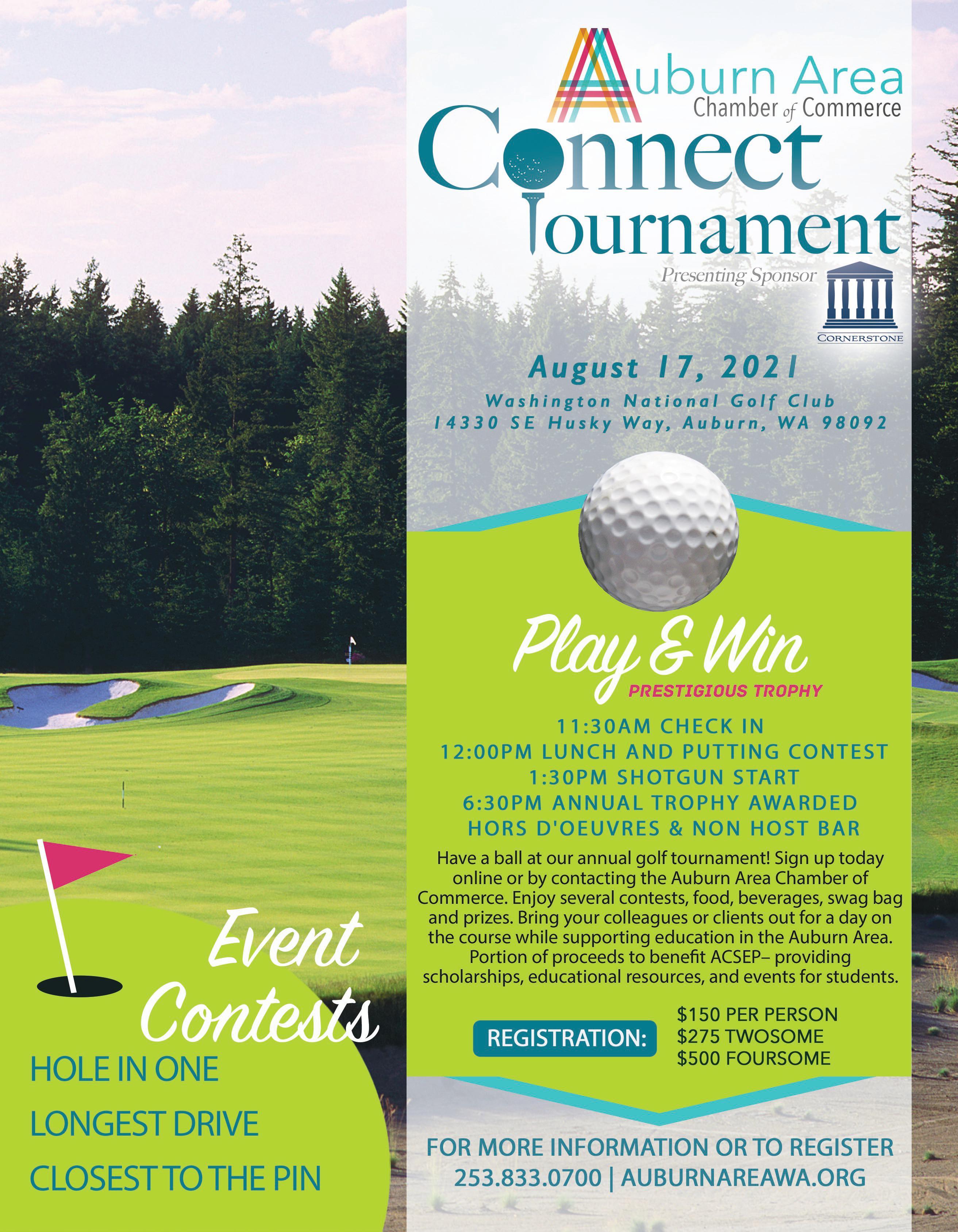 2021 CONNECT Golf Tournament Flyer