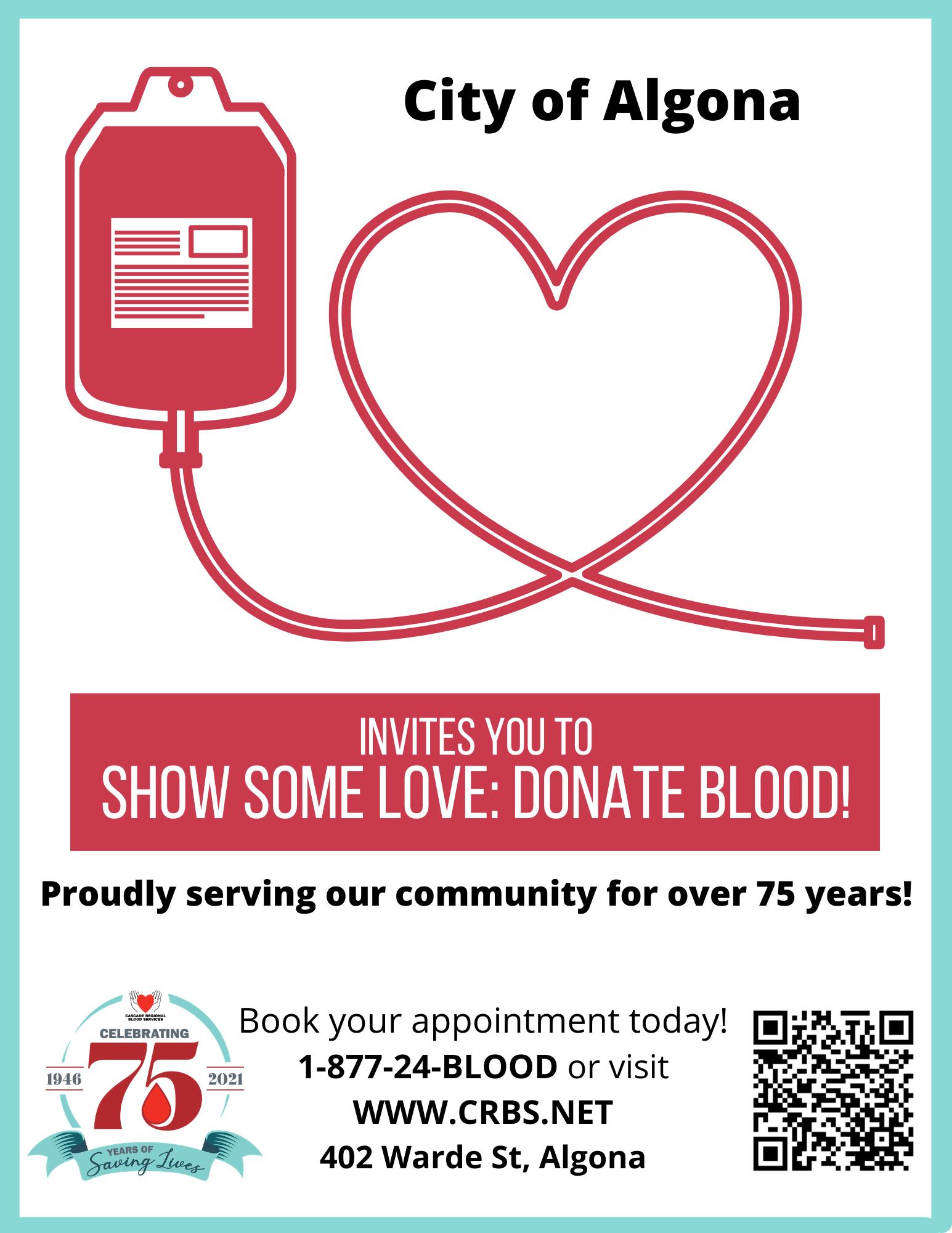 City of Algona - 2021 Mobile Blood Drive