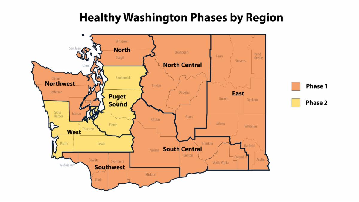 Healthy Washington Recovery Map - Feb. 1, 2020