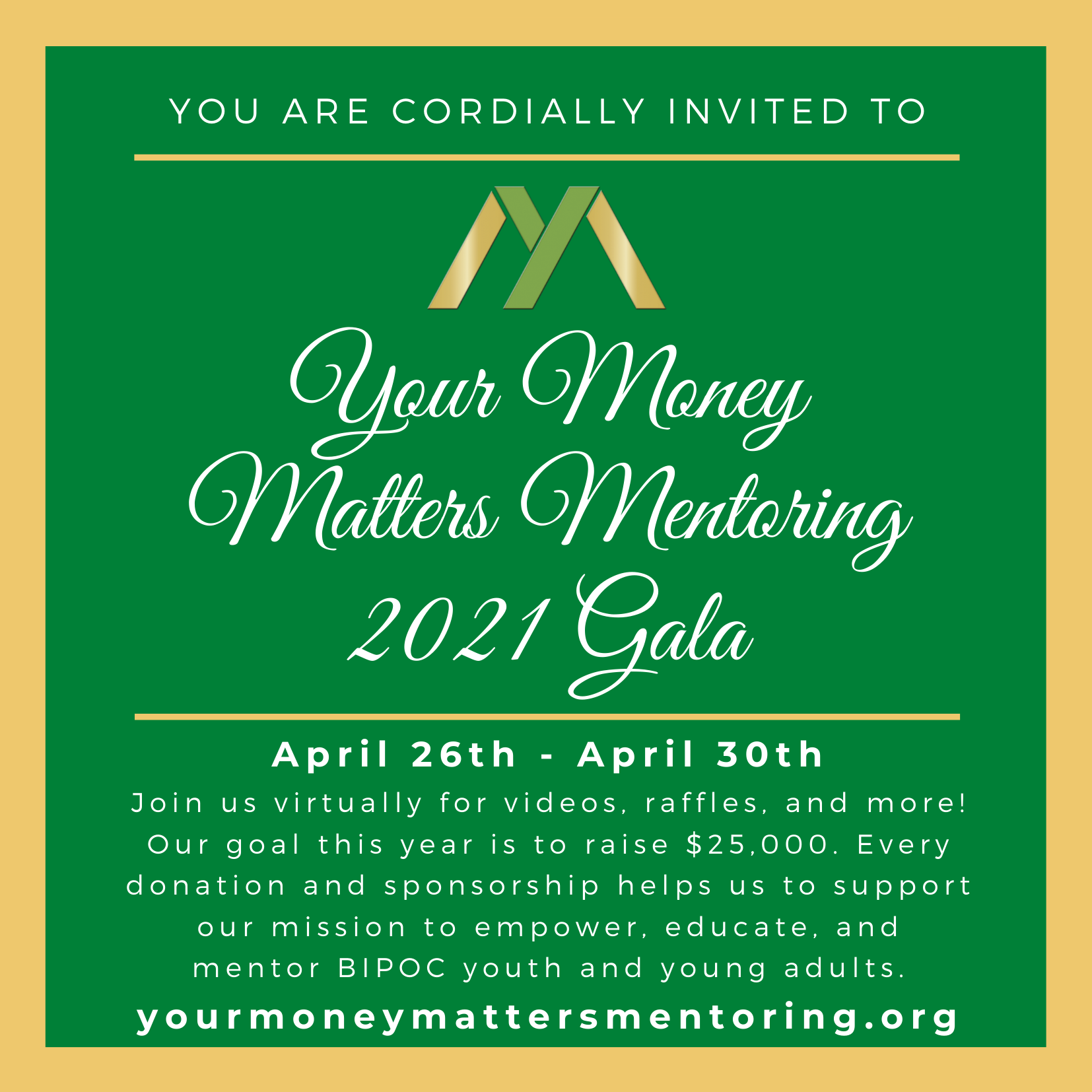 Your Money Matters 2021 Mentoring Gala