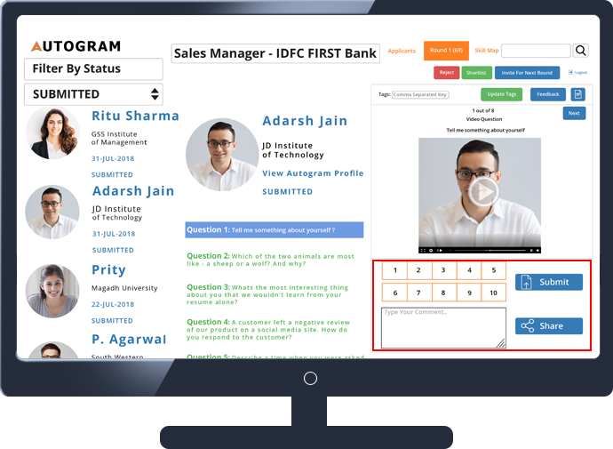 Autogram for Collaboration with Hiring