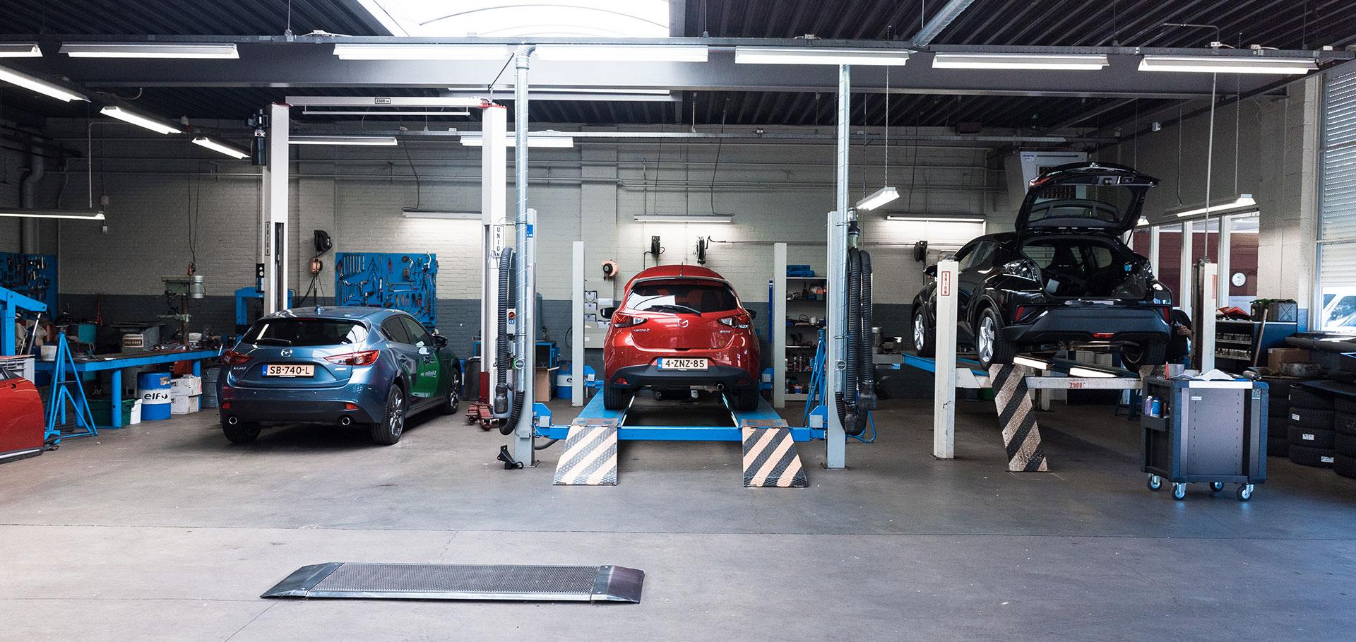 Werkplaats van Auto Megens in Wijchen